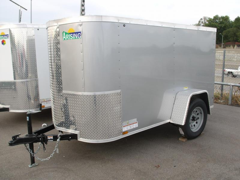 "Enclosed Trailer 4 X 8 RAMP DOOR 15"" Radial Tires 2990 # Axle ALL Tube Construction  4' 6""' Interior Silver Mist In Color"