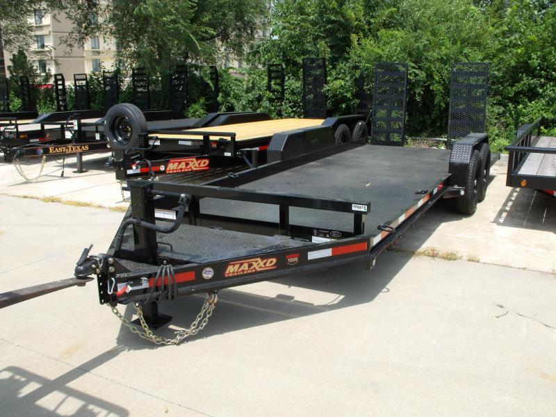 """Skid Steer Trailer 81"""" X 20 Non Slip Combo Ramps 14000 GVW ALL STEEL 1/8"""" Diamond Plate Steel"""