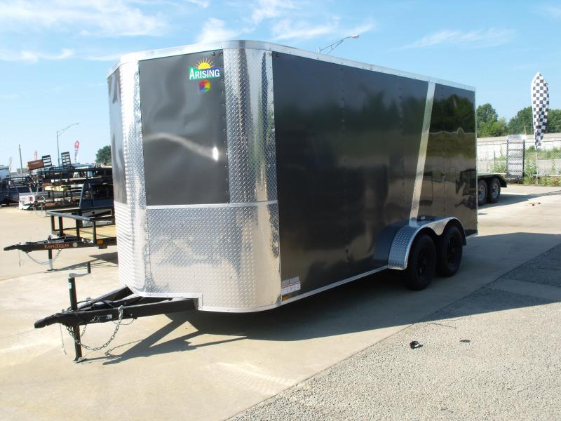 Enclosed Trailer 7 X 16 Ramp 7' Interior Height   Medium Charcoal/ Black  In Color ALL Tube Construction