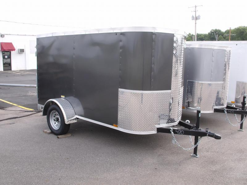 Enclosed Trailer For The Smaller Vehicles  4 X 8 Barn Door 4' 6 Black In Color In Color
