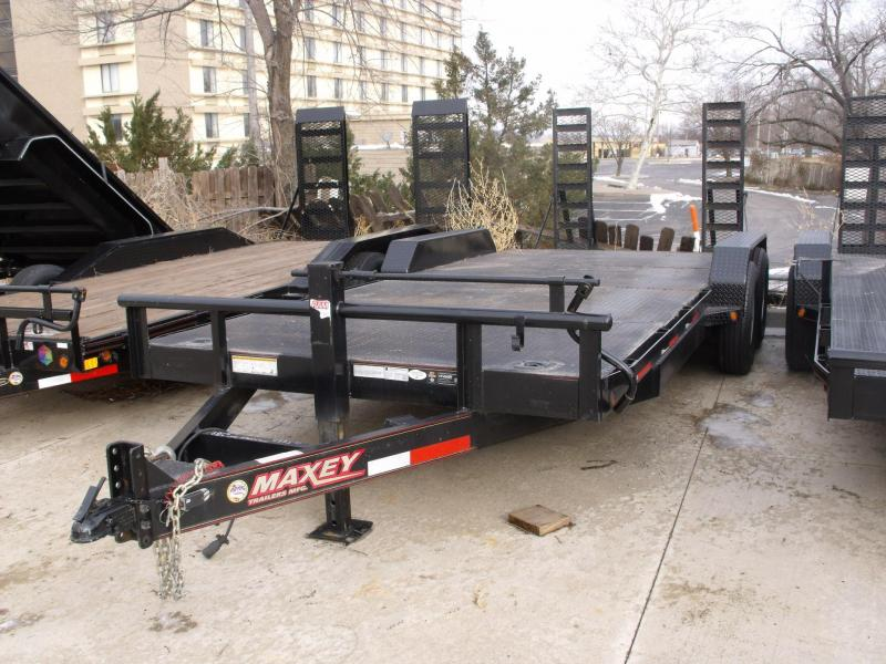USED TRAILER 83 X 20 Equipment Trailer 14000 GVW Ramps STEEL Deck