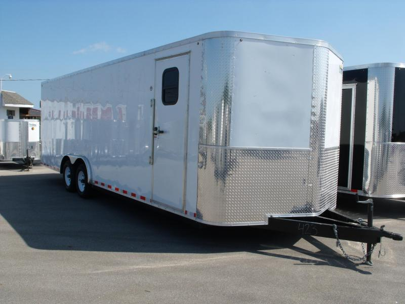 Enclosed Trailer 8.5 X 24 Ramp Dove Tail (( 7' Height))  Razor Trailer   10.400 GVW ALL Tube Construction  (( Color White ))