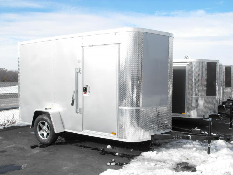 Enclosed Trailer 6 X 10 Ramp Silver In Color ALL TUBE Construction