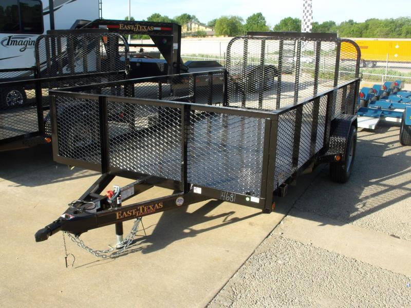 Hi Wall Utility Trailer 83 X 12 Spring Assisted Tube Gate 24