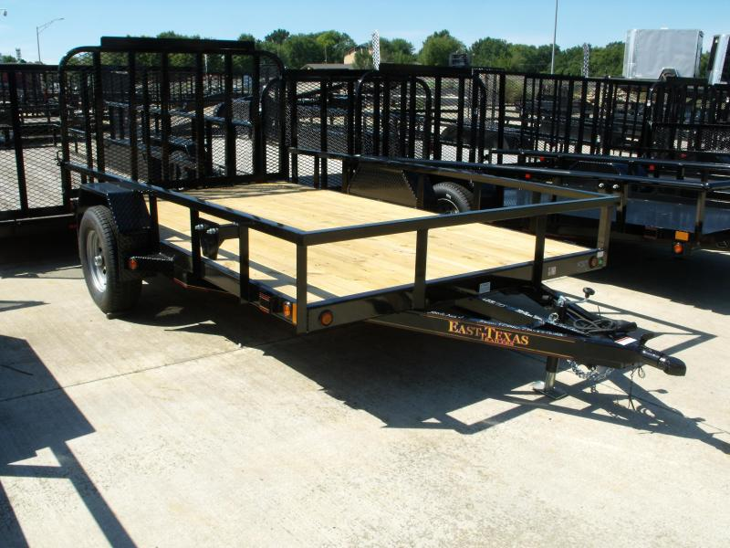 Utility Trailer 83 X 12 Spring Assist Tube Gate 5000 # Axle Electric Brakes  LED's