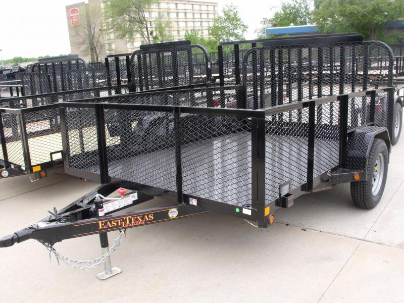 "Hi Wall Utility Trailer 83 X 10 All Steel  24"" High Mesh Sides 2990 Axle Spring Assisted Tube Gate"