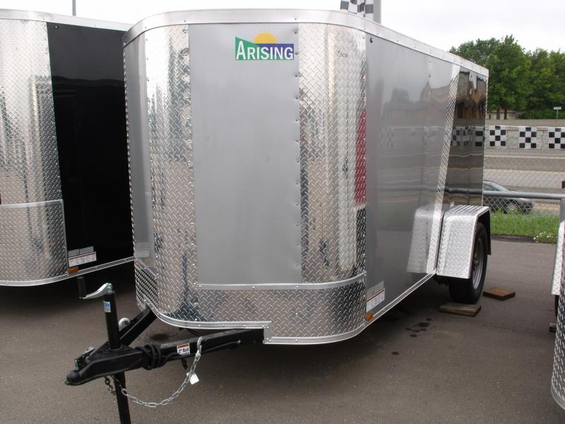 Enclosed Trailer 5 X 10 Ramp Color Silver Mist Front/Black Rear ALL Tube Construction
