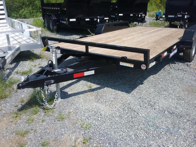 2018 Sure-Trac 7 X 16 Wood Deck Car Hauler 7k