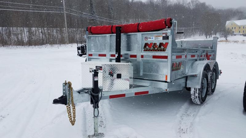 2018 N&N 6x10 Galvanized Dump Trailer 7K LB GVW