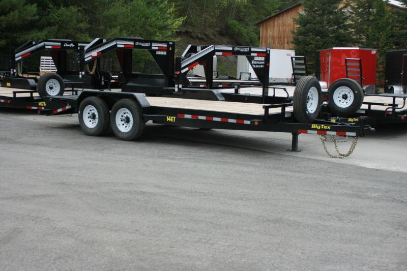 2018 Big Tex Trailers 14ET-20MR Equipment Trailer with Mega Ramps