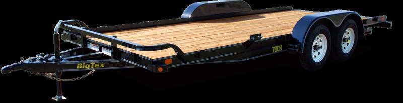 """2018 Big Tex Trailers 70CH-18BKDT-GA  Car Equipment Trailer 83""""x18"""