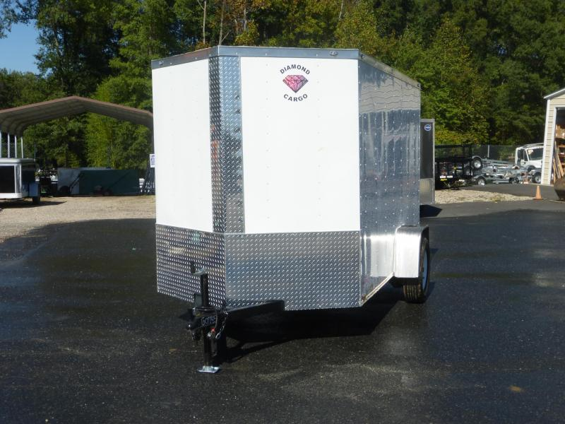 Diamond Cargo 6X10SA Black Enclosed Cargo Trailer with Ramp