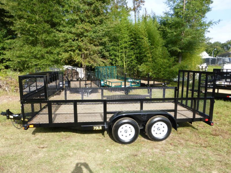 Big Tex 7' x 16' Tandem Axle Landscape Trailer w/ Mesh Sides & Box