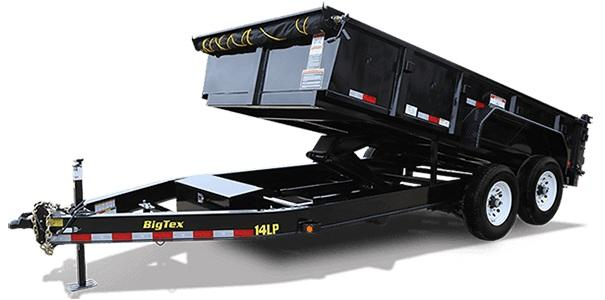 Big Tex 7' x 14' Trailers 14LP-14 Dump Trailer