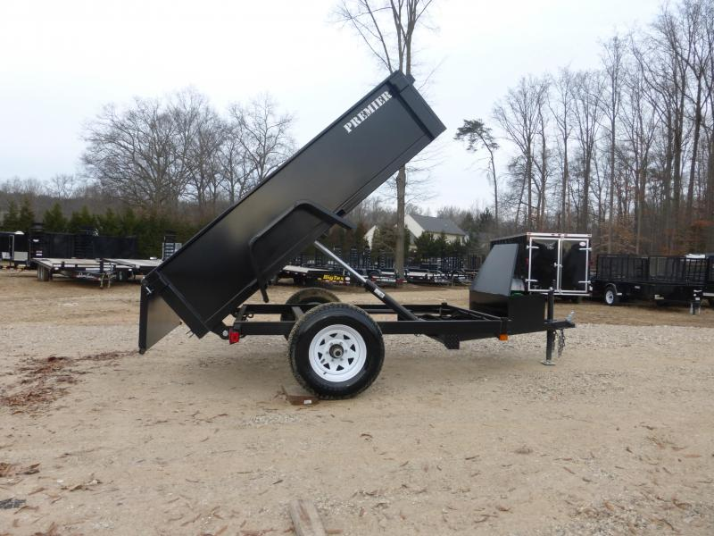 Premier 5' x 8' Single Axle Dump Trailer