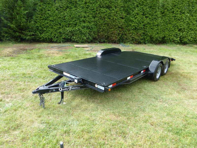 Quality Trailers 7' x 18' Solid Steel Deck Car Hauler