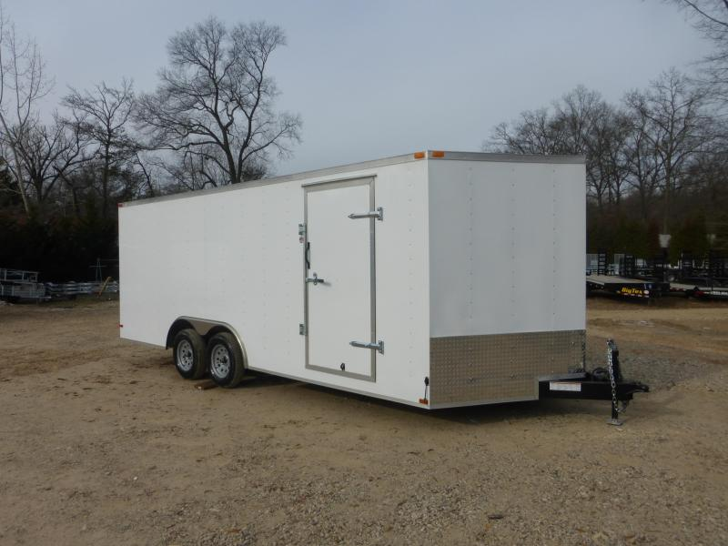 Lark 8.5' x 20' V-Nose Enclosed Car Hauler Trailer w/Torsion Axles - 10K