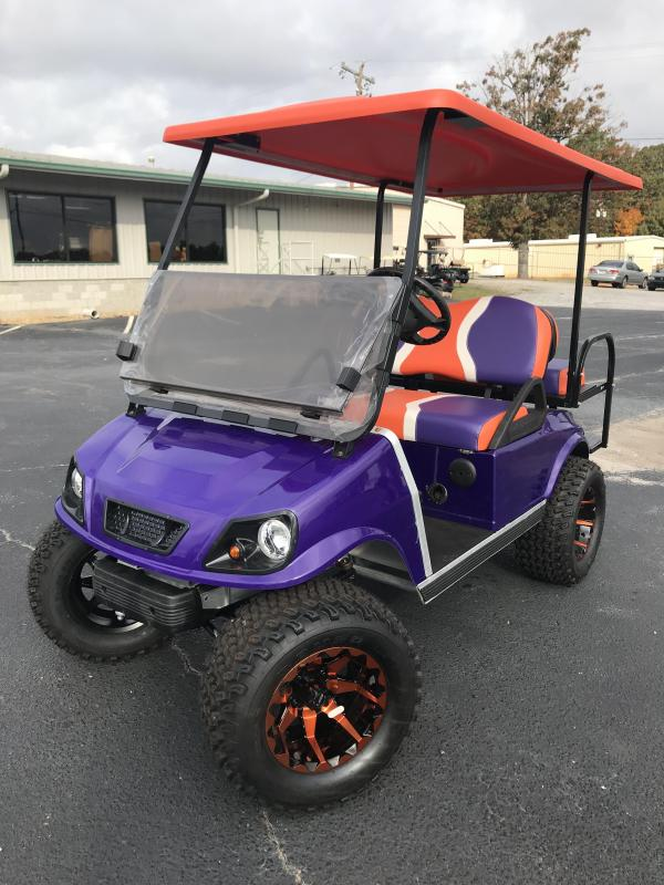 2008 Pre Owned Club Car DS Electric Golf Cart Purple