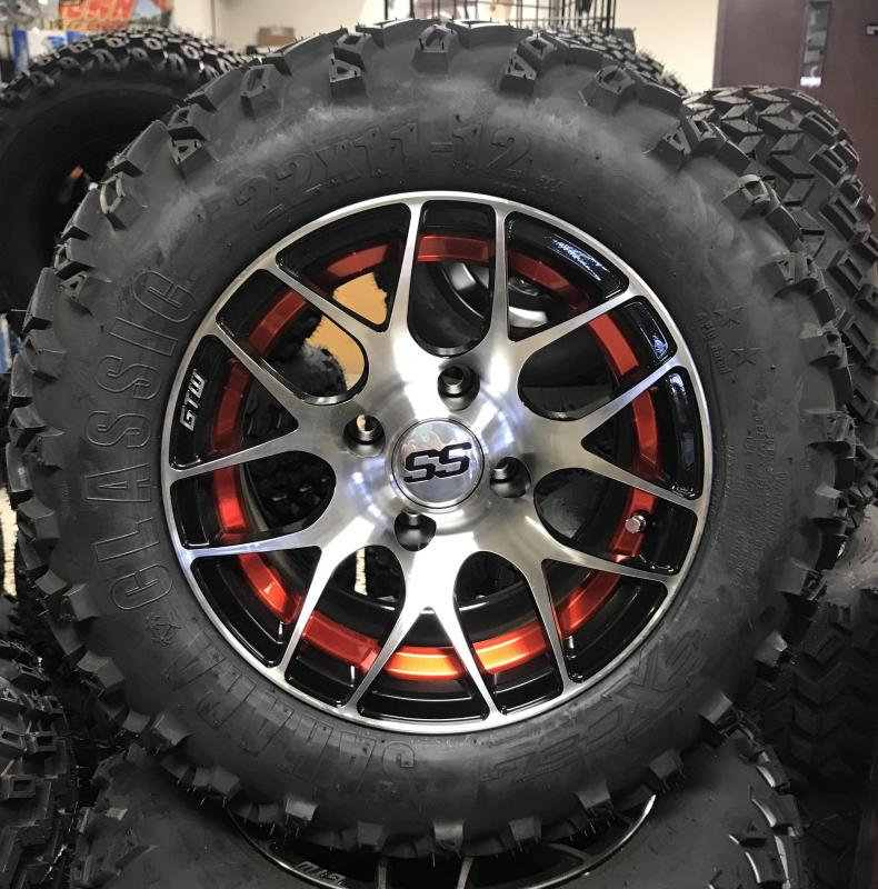 Sahara Classic Tire and Red Pursuit Wheel Assembly