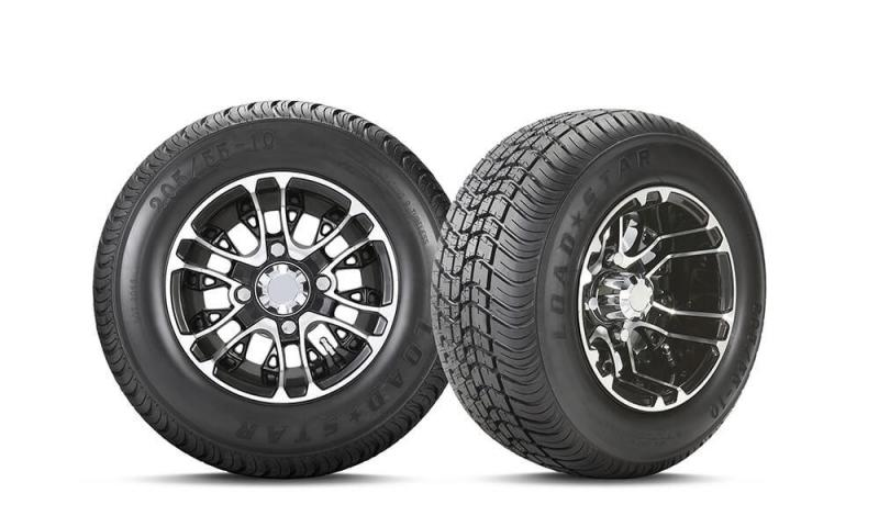 Loadstar Tire with Mercury Gloss Black Wheel