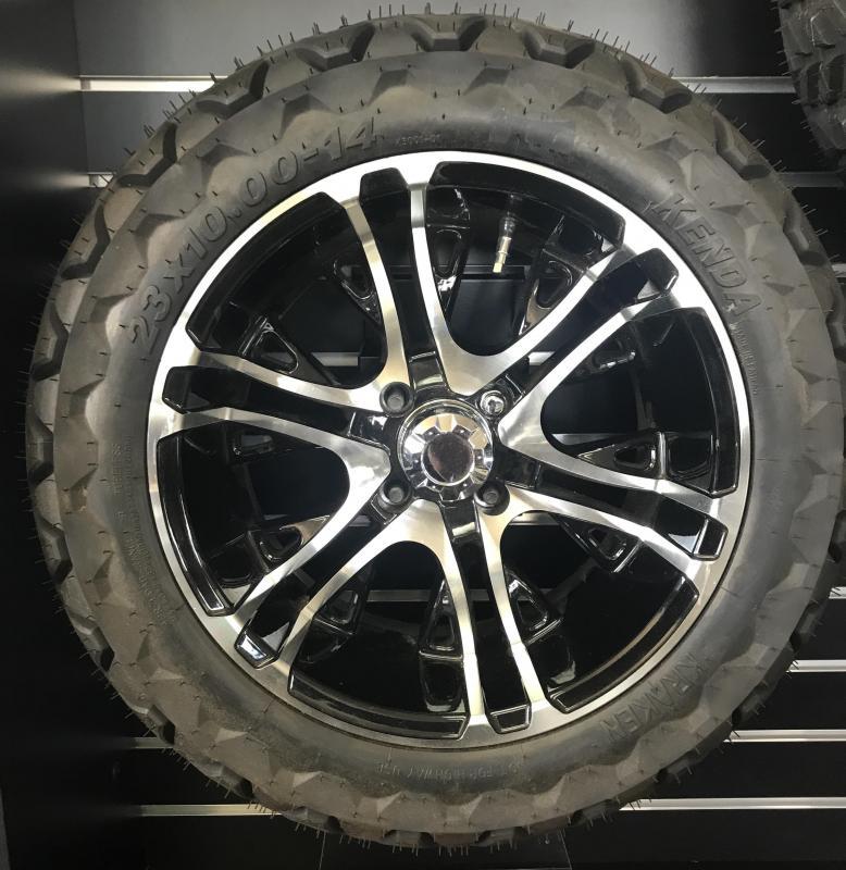 Kraken Tire with Mercury Gloss Black Wheel