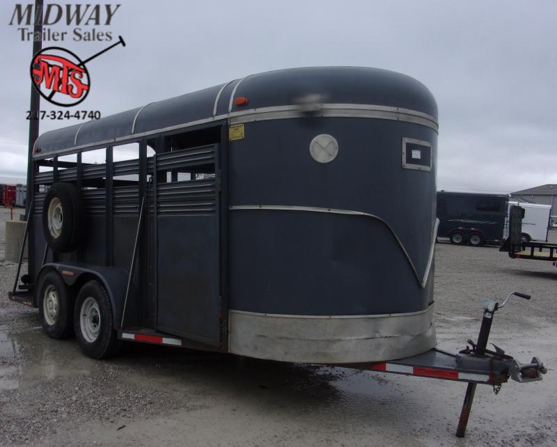 "1987 Rawhide 6'6"" X 7'4"" X 16' Stock BP Horse Trailer"