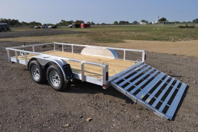 """2020 All Aluminum 80"""" x 14' Tandem Axle Tube Top Utility Utility Trailer For Sale"""