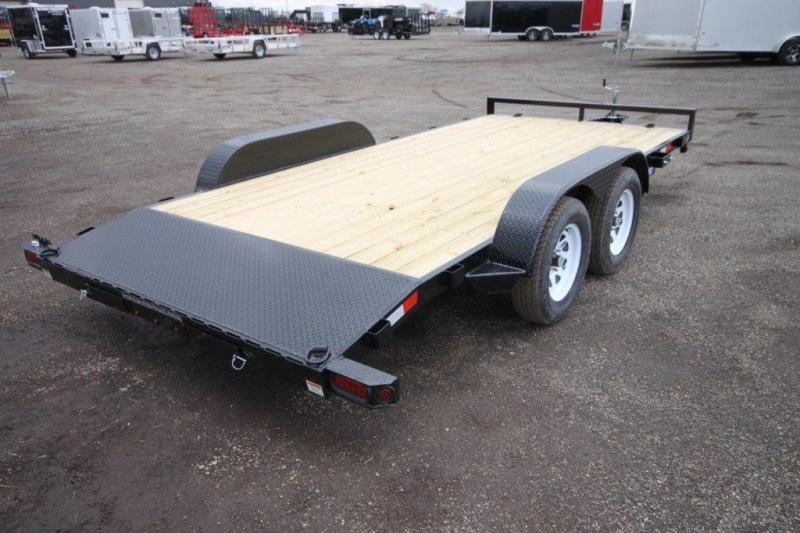 "2019 Sure-Trac 82"" x 16' Wood Deck Car Trailer For Sale"