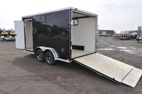 2021 Haul-it 7.5 x 14 Wedge Nose Enclosed Cargo Trailer W/Windows for Sale