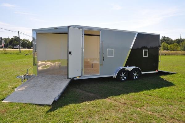 2020 Haul-it 7.5 x 23 All Aluminum Snowmobile Trailer W/7' Interior For Sale