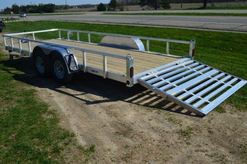 """2020 All Aluminum 80"""" x 18' Tandem Axle Tube Top Utility Trailer For Sale"""