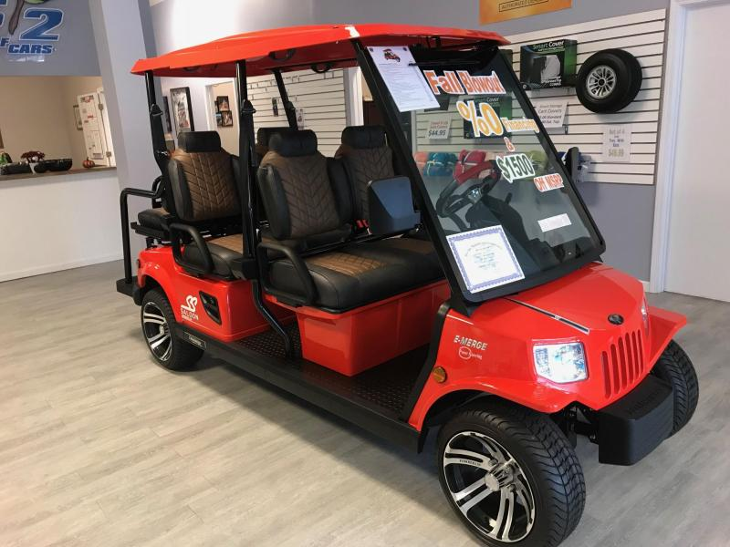 E-Merge E4 SS SALOON | Tomberlin | Lollipop Red Golf Cart | 2019