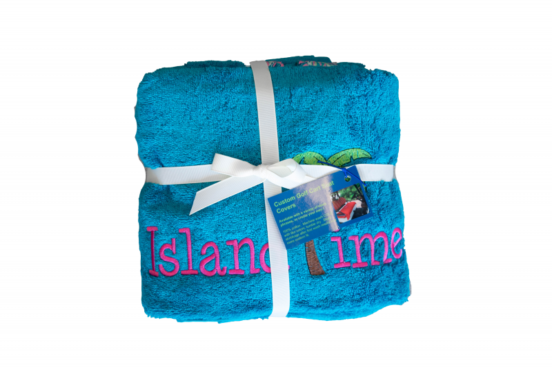 Golf Cart Seat Cover | Teal | Island Time