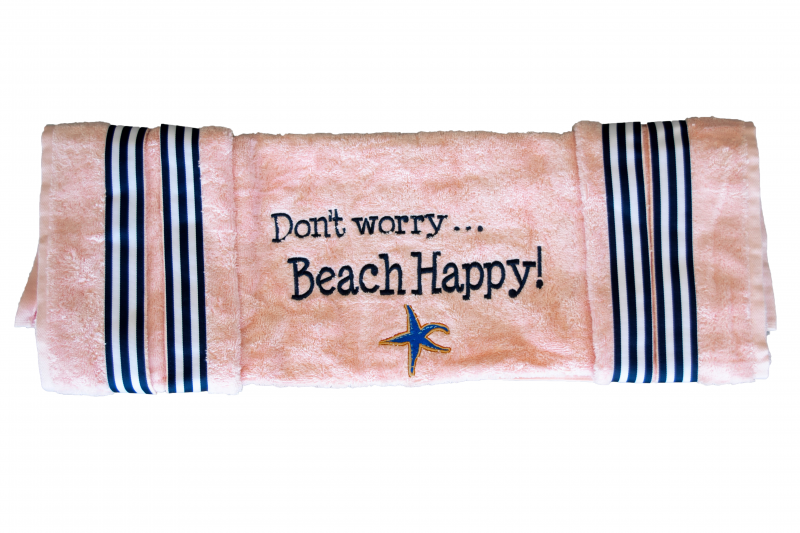 Golf Cart Seat Cover | Pink | Don't Worry Beach Happy