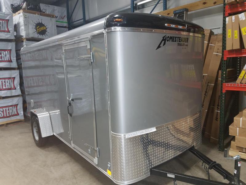 2019 Homesteader Trailer 6X14 Flat Nose Trailer Enclosed Cargo Trailer