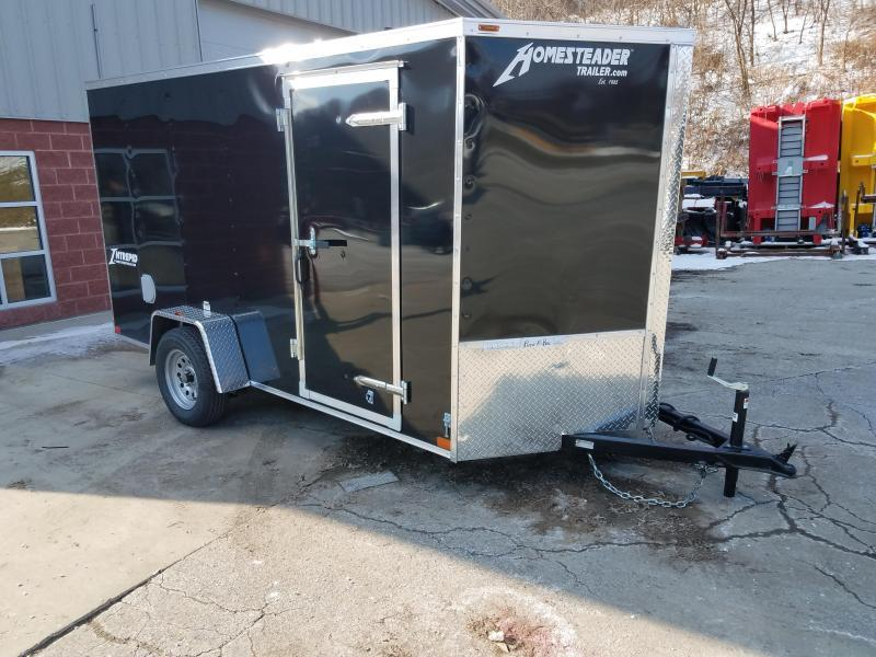 2019 Homesteader Trailer 6X12 V Nose Trailer Enclosed Cargo Trailer