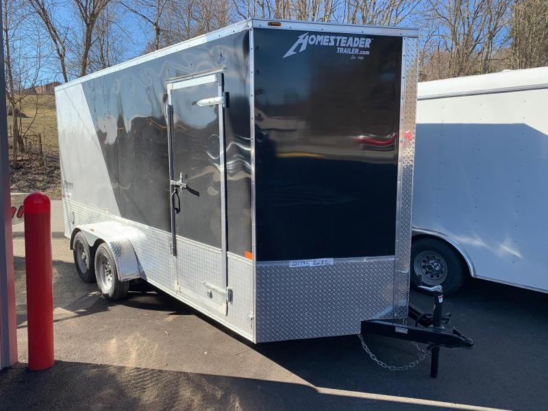 2019 Homesteader Trailer 7X16 V Nose Trailer Enclosed Cargo Trailer