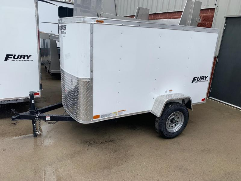 2019 Homesteader Trailer 4X8 Flat Nose Trailer Enclosed Cargo Trailer