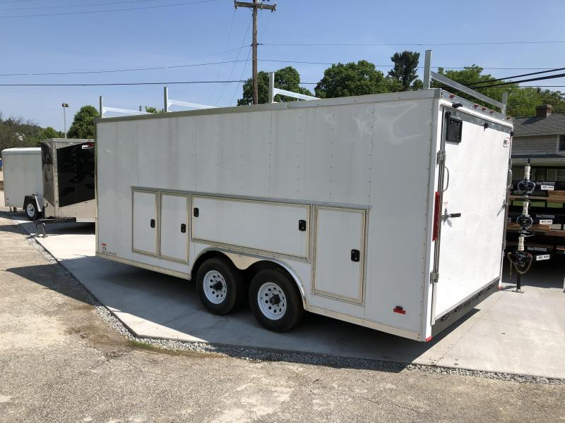 2018 RC 8.5'x18' Trailers Tool Box Trailer Enclosed Cargo Trailer