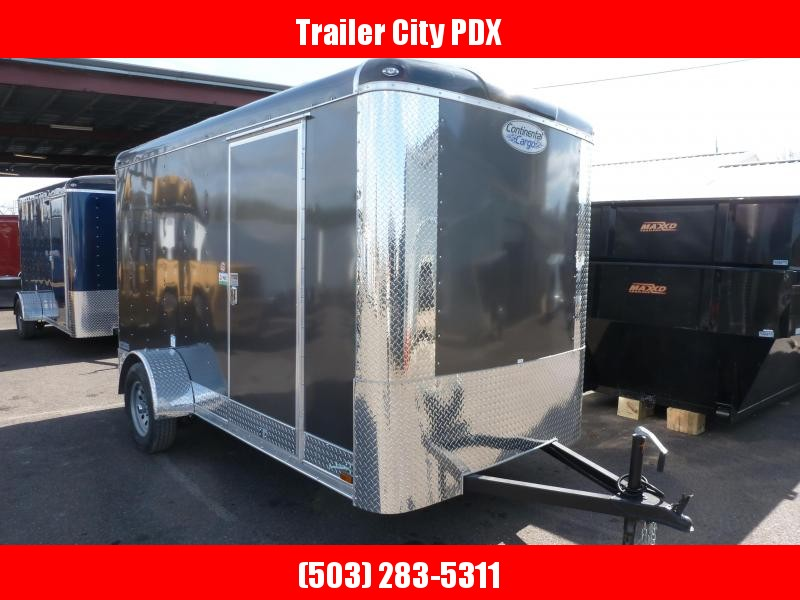 2020 Continental Cargo 6 X 12 3K TALL RAMP cHARCOAL Enclosed Cargo Trailer
