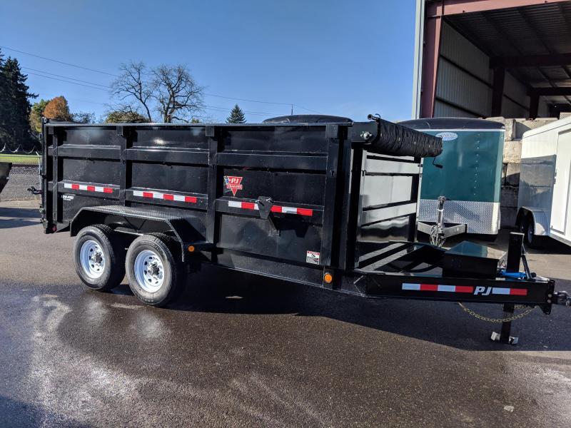 PJ Trailers 7 X 14 14K Low Pro High Side Dump  4' Sides  (DM) Dump Trailer