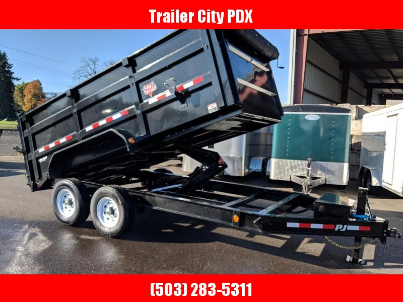 PJ Trailers 7 X 14 10K Low Pro High Side Dump  4' Sides  (DM) Dump Trailer