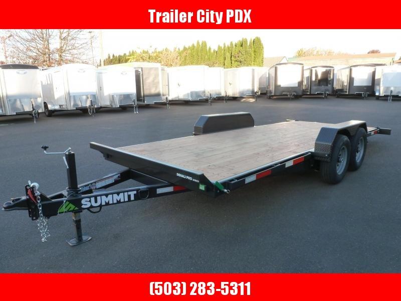 2020 Summit DPTB718TA3 Flatbed Trailer