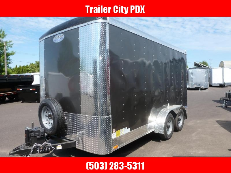 2020 Continental Cargo 7 X 14 7K CHARCOAL TALL RAMP Enclosed Cargo Trailer