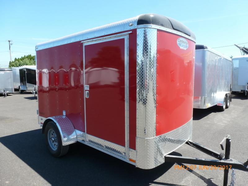 Continental Cargo 5 X 10 3K RED CARGO SUPER TALL Enclosed Cargo Trailer