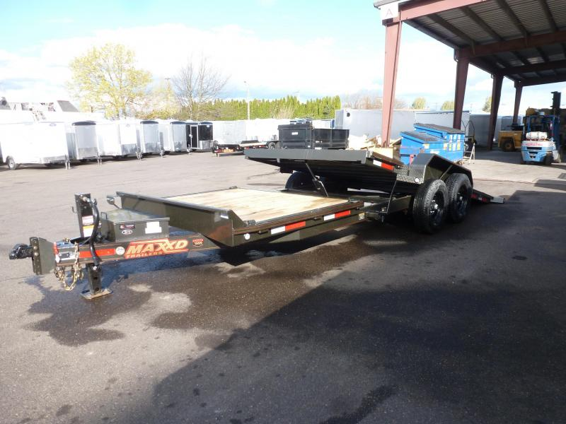 "2020 MAXXD 22' X 83"" 14K GRAVITY EQUIPMENT TILT Flatbed Trailer"