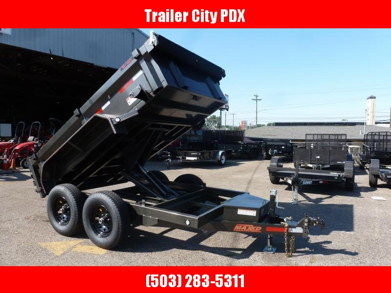MAXXD 6 X 10 12K Dump Trailer RAMPS. TARP. GRAY METALLIC