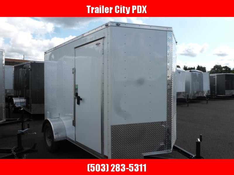 2020 Continental Cargo 6 X 10 3K V SERIES WHITE RAMP Enclosed  Trailer
