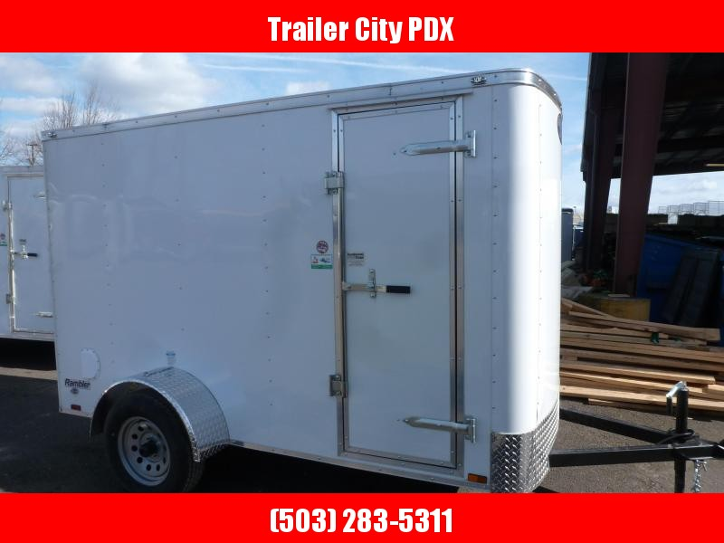 2020 Continental Cargo 5 X 10 3K RAMBLER WHITE RAMP Enclosed Cargo Trailer