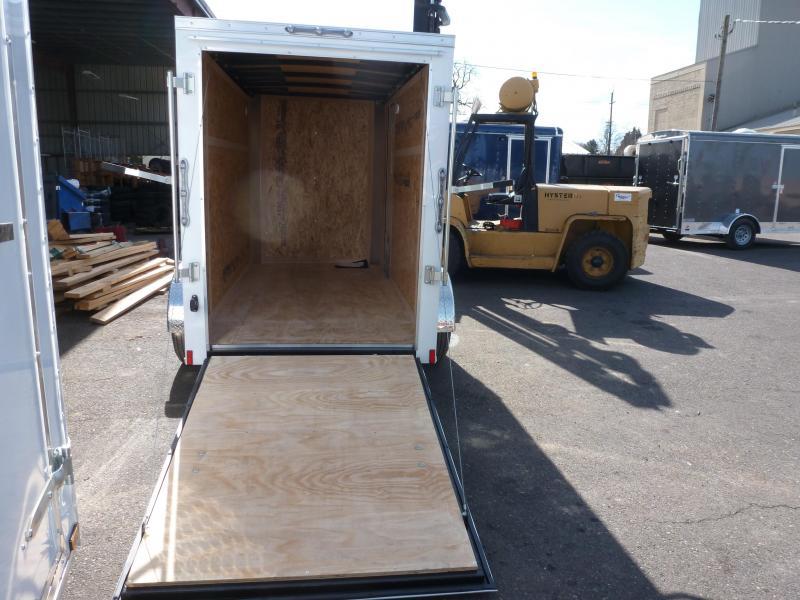 2020 Continental Cargo 5 X 10 3K RAMBLER WHITE RAMP Enclosed Cargo Trailer